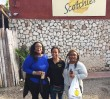 Customers at Scotchies Jerk Center in Montego Bay