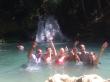 Customers at Blue Hole Ocho Rios, Jamaica.